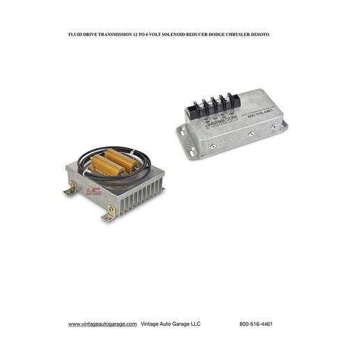 Chrysler  DeSoto Dodge M-6  transmission 12 to 6 volt solenoid reducer/relay -M612K