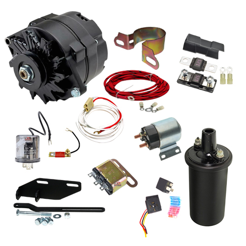 1948-1954 Chevy Car 12 volt  Conversion With Electric Key Starter - C4854BK