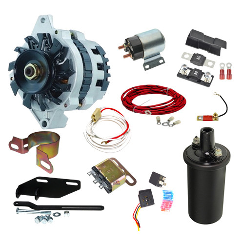 1948-1954 Chevy Car 12 volt  Conversion With Electric Key Starter - C4854K