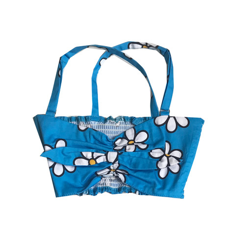 Bandeau Top - Daisies-Blue