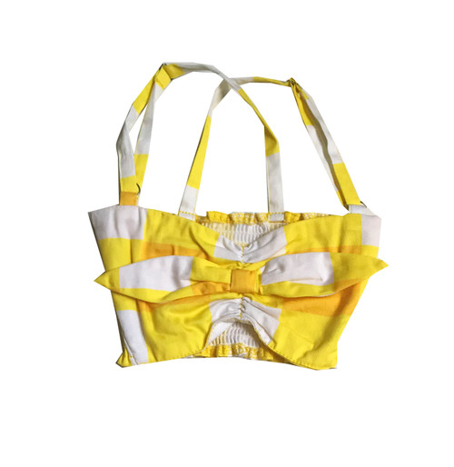 Bandeau Top - Gingham - Yellow