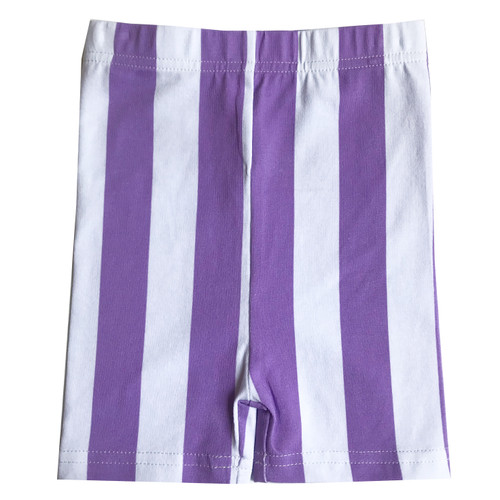 Biker Shorts - Stripes-Purple