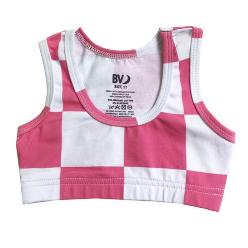 Sports Top - Checkers-Pink