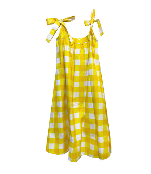 House Dress - Gingham-Yellow