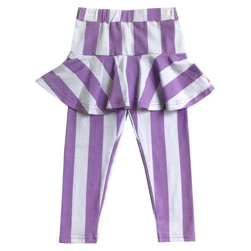 Skirt Leggings - Stripes-Purple