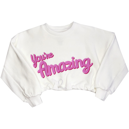 Crop Sweatshirt - You're Amazing (CHEST)