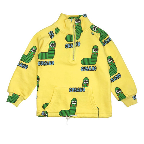 Half Zip Sweatshirt -Worm-Green