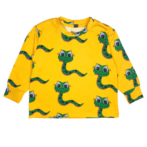 Long Sleeve Tee Shirt - Snakes-Yellow