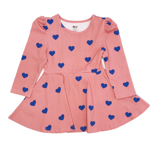 Puff Sleeve Dress - Hearts
