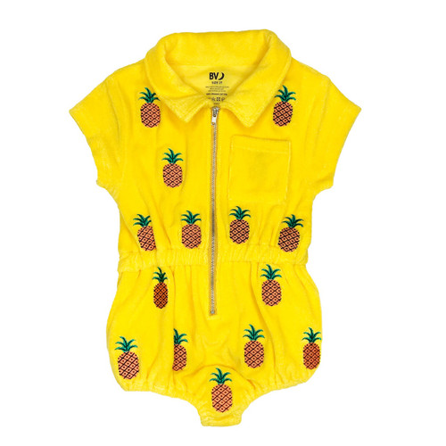 Terry Embroidered Playsuit - Fruits