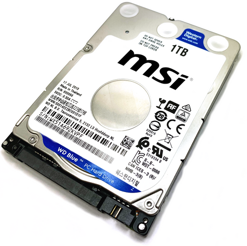 MSI GX Series GX63VR 4K 225 Laptop Hard Drive Replacement