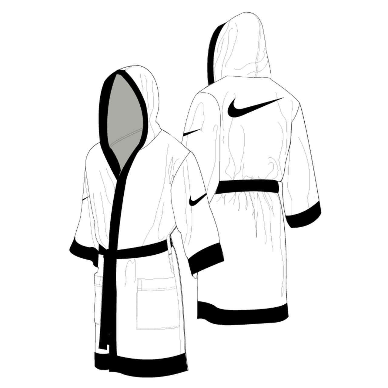 Nike Boxing Robe - White   Black - Athlete Performance Solutions EU 7fe7bb2825be