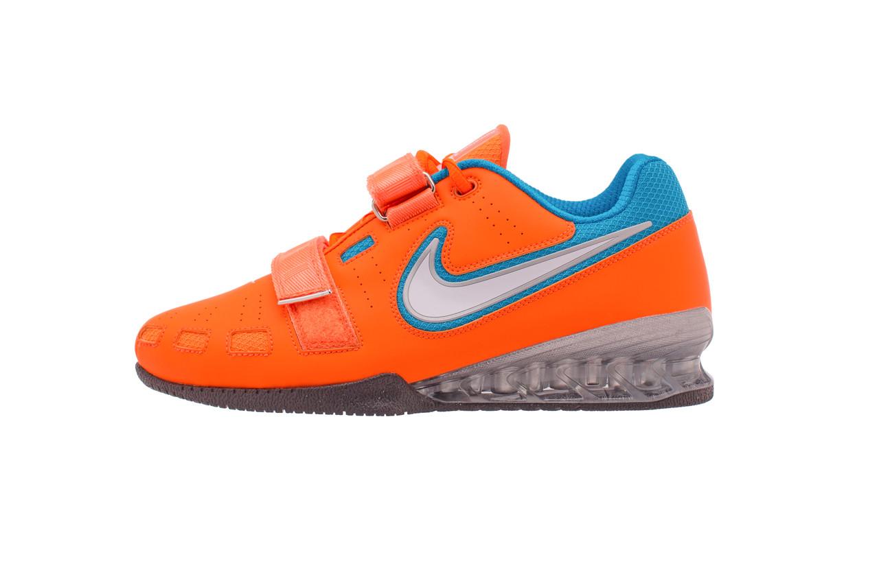 difícil Precipicio Silla  Nike Romaleos 2 Weightlifting Shoes - Orange / Blue