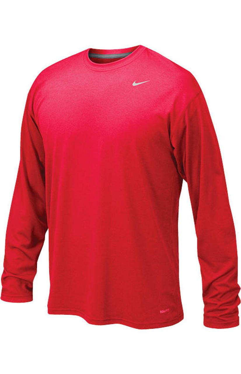 4488ec3ce37fe Nike Legend Boys Long Sleeve T-Shirt - University Red Matte Silver ...