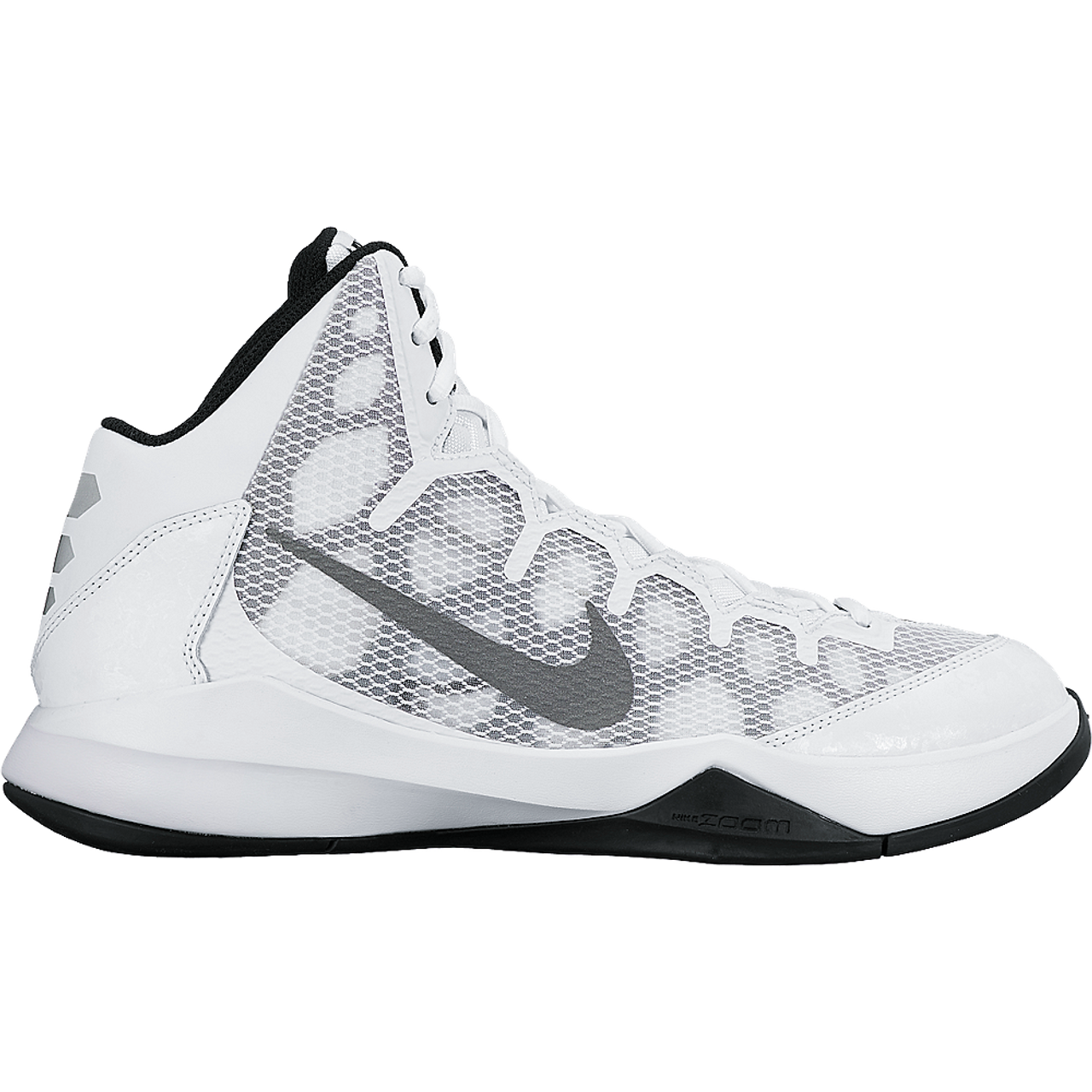 d9a2911a3c62 Nike Men s Zoom Without A Doubt - White Metallic Silver Black