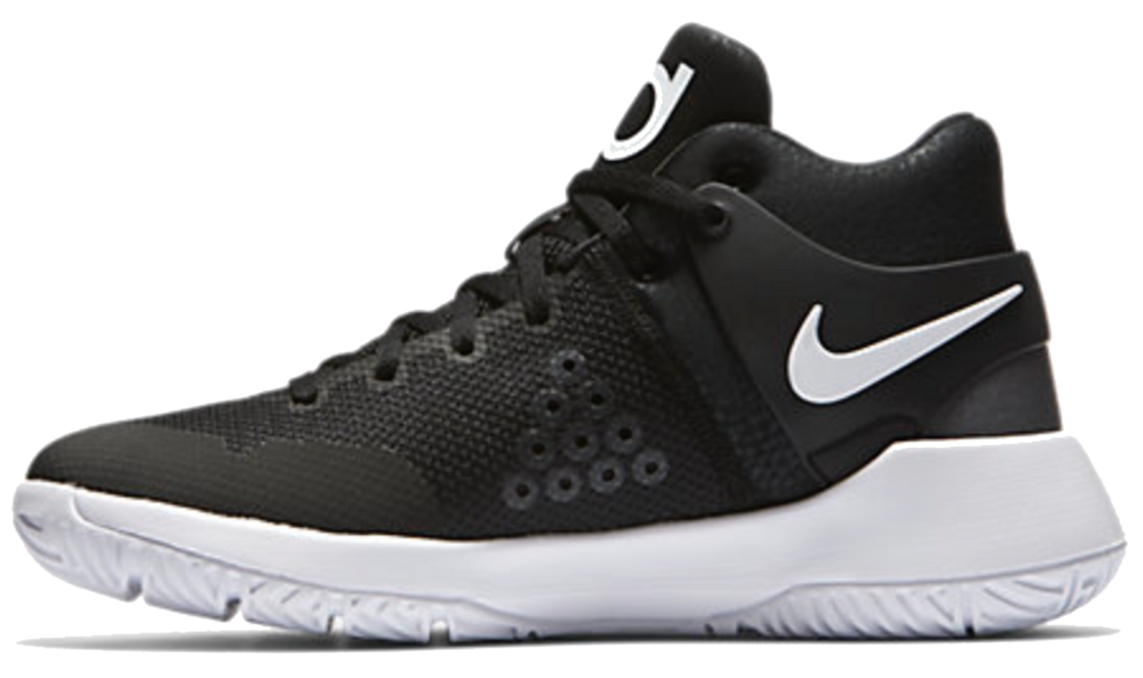850e232de5441 Nike Boy s KD Trey 5 IV GS Basketball Shoe - Black White-Dark Grey