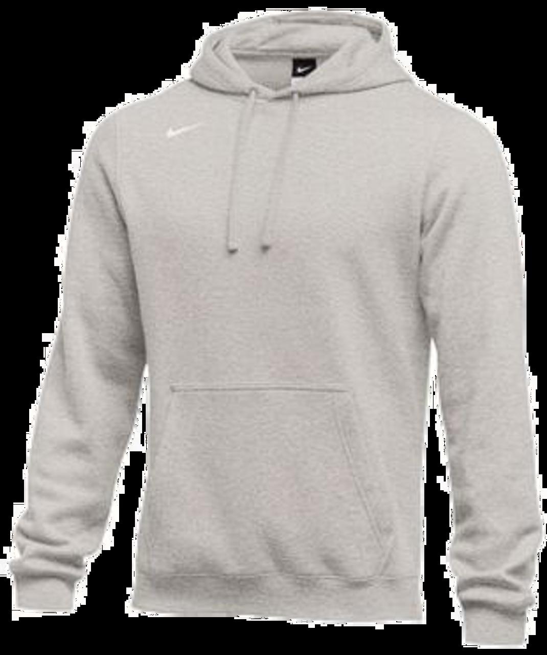 Nike Youth Club Fleece Pullover Hoodie Dark Grey HeatherWhite