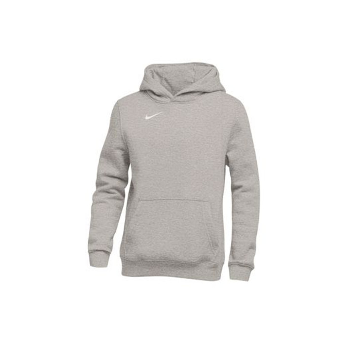 outlet store 78280 8f5b5 Nike Youth Club Fleece Pullover Hoodie - Dark Grey Heather/White