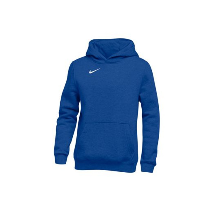 Nike Youth Club Fleece Pullover Hoodie - Royal White 2f6d3d22bec
