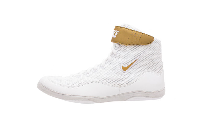 white and gold nike