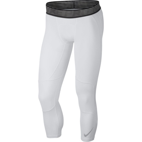 shopping limited guantity lowest price Nike Men's Pro 3/4 Basketball Tights - White/Black