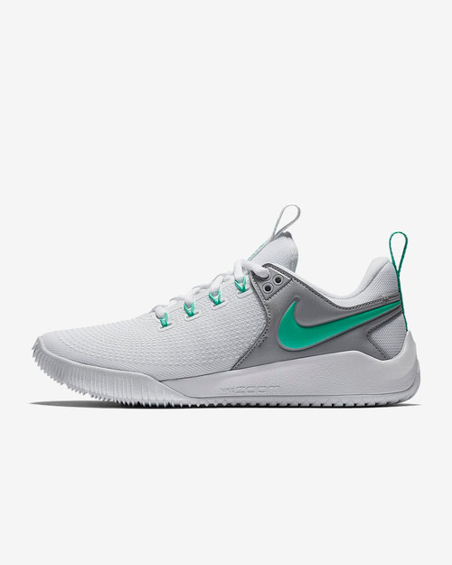 2c37b628126 Nike Women s Zoom HyperAce 2 Volleyball Shoe - White Wolf Grey Menta