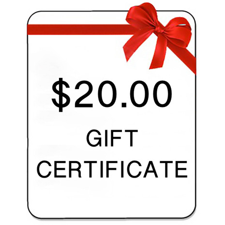Gift Certificate of $20 Value