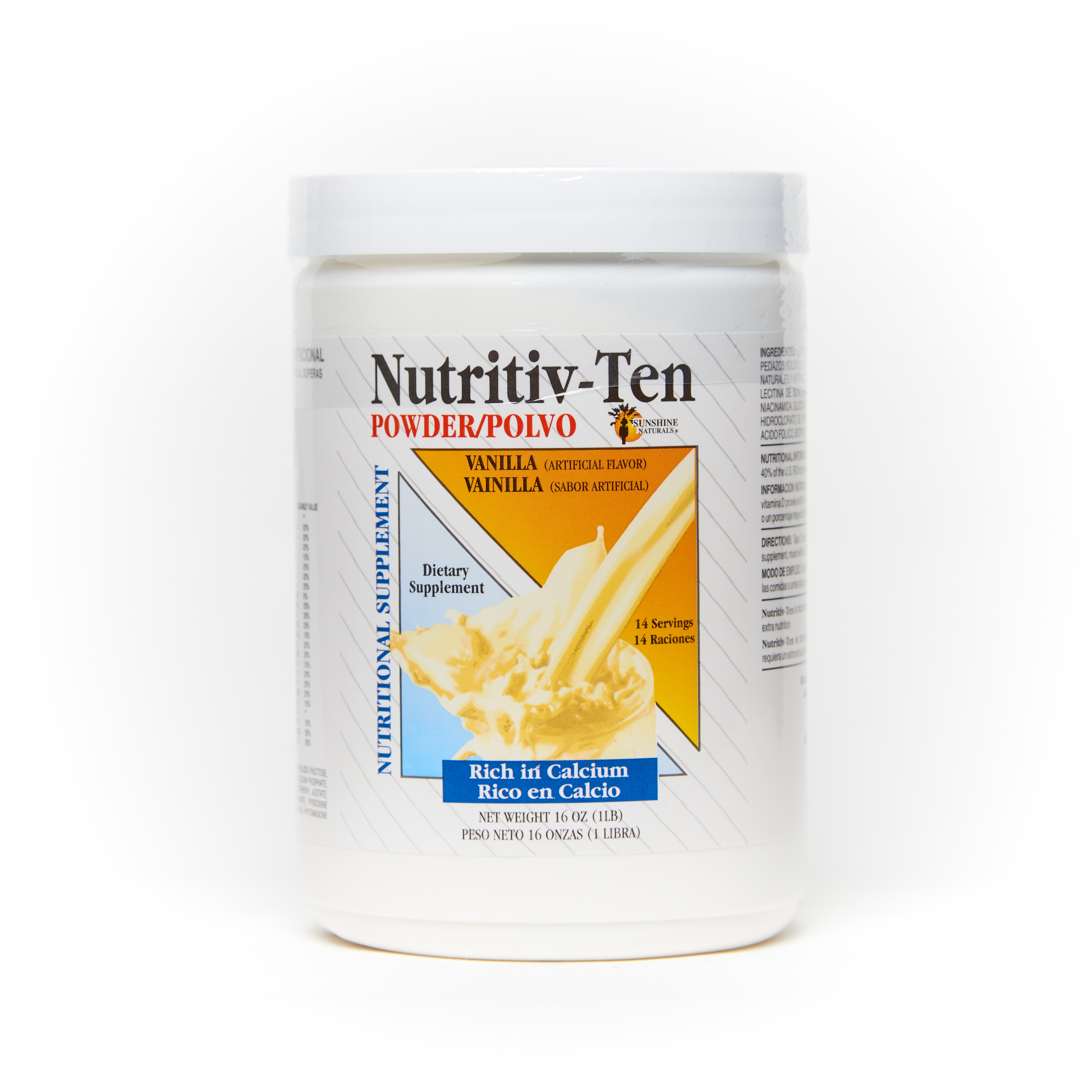 Nutritiv-Ten Powder 16 Ounces Vanilla