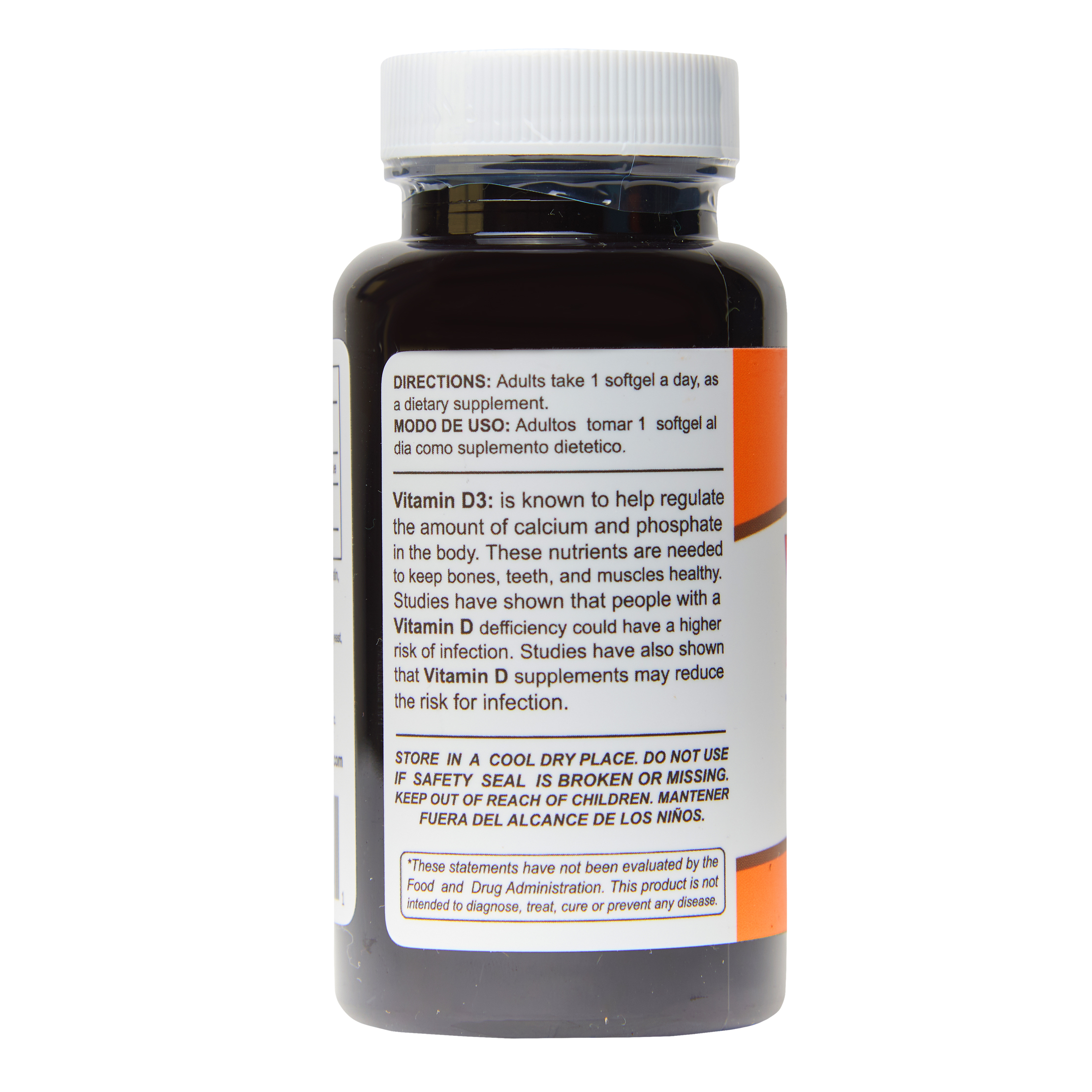 Vitamin D3 10,000IU (250mcg) 100 Softgels