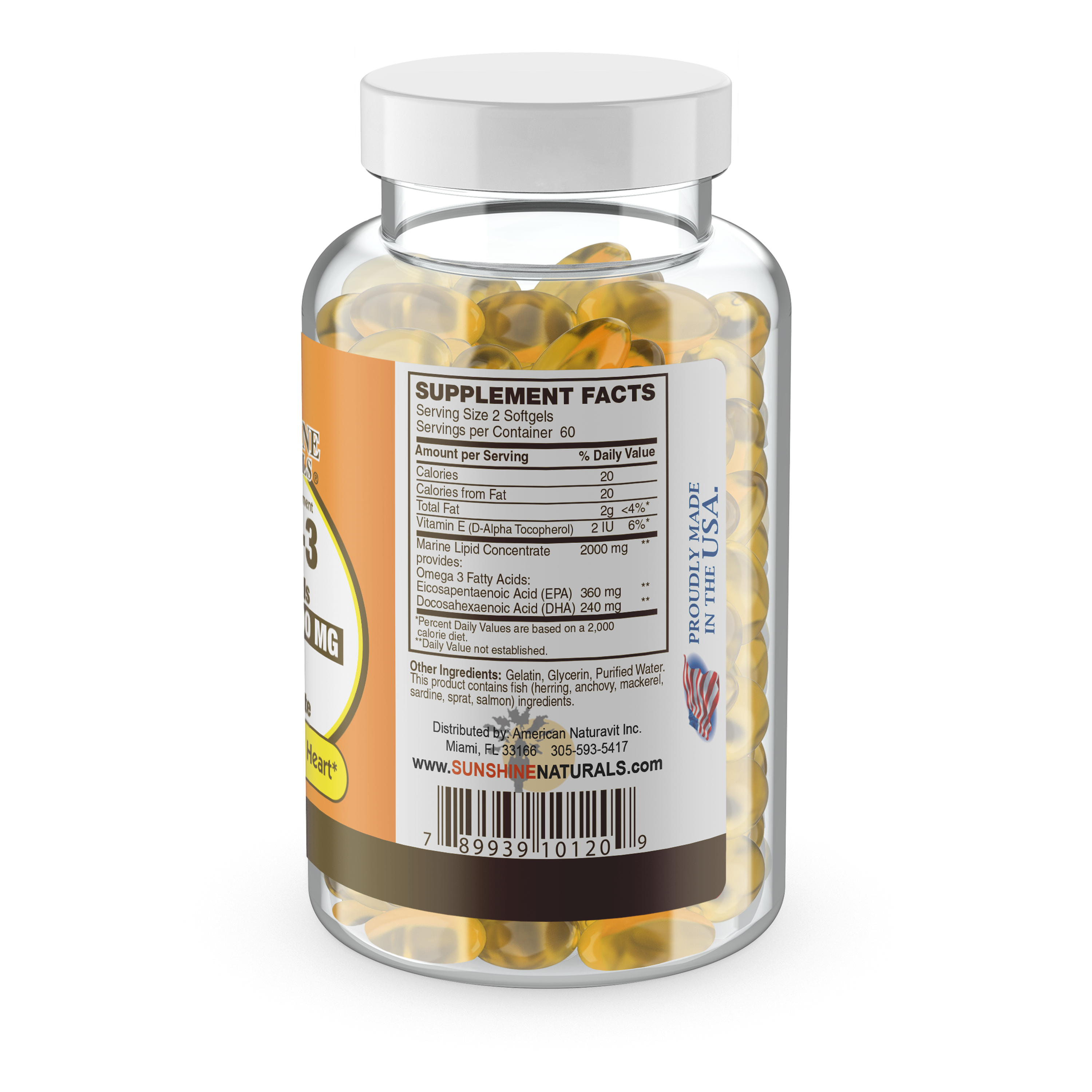 Omega 3 Fish oil 2000mg 120 Softgels