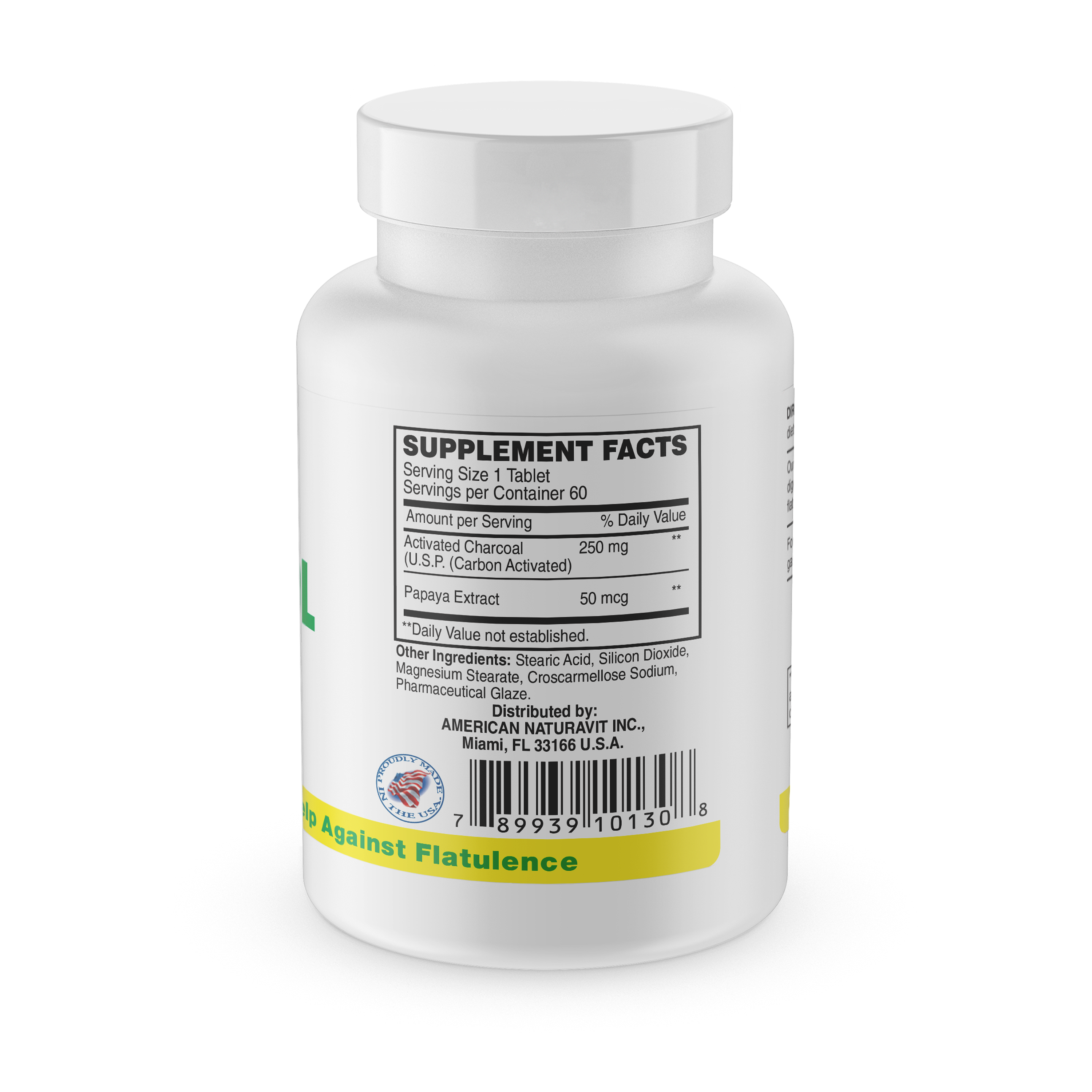 Activated Charcoal (Carbonestol) 60 Tablets
