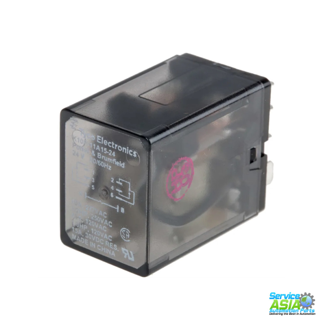 PLUG IN TE CONNECTIVITY//POTTER /& BRUMFIELD K10P-11A15-24 POWER RELAY 24VAC DPDT 15A