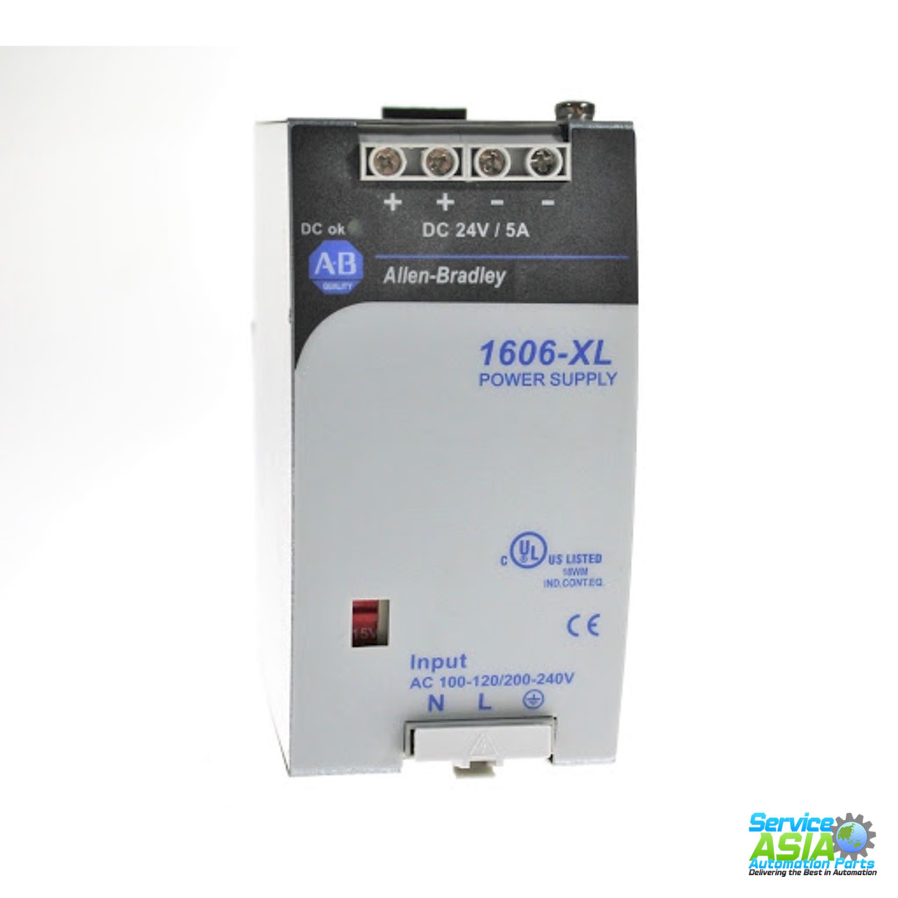 AB  1606-XL120DR INPUT AC100-240  OUTPUT 24VDC 120 WATT POWER SUPPLY