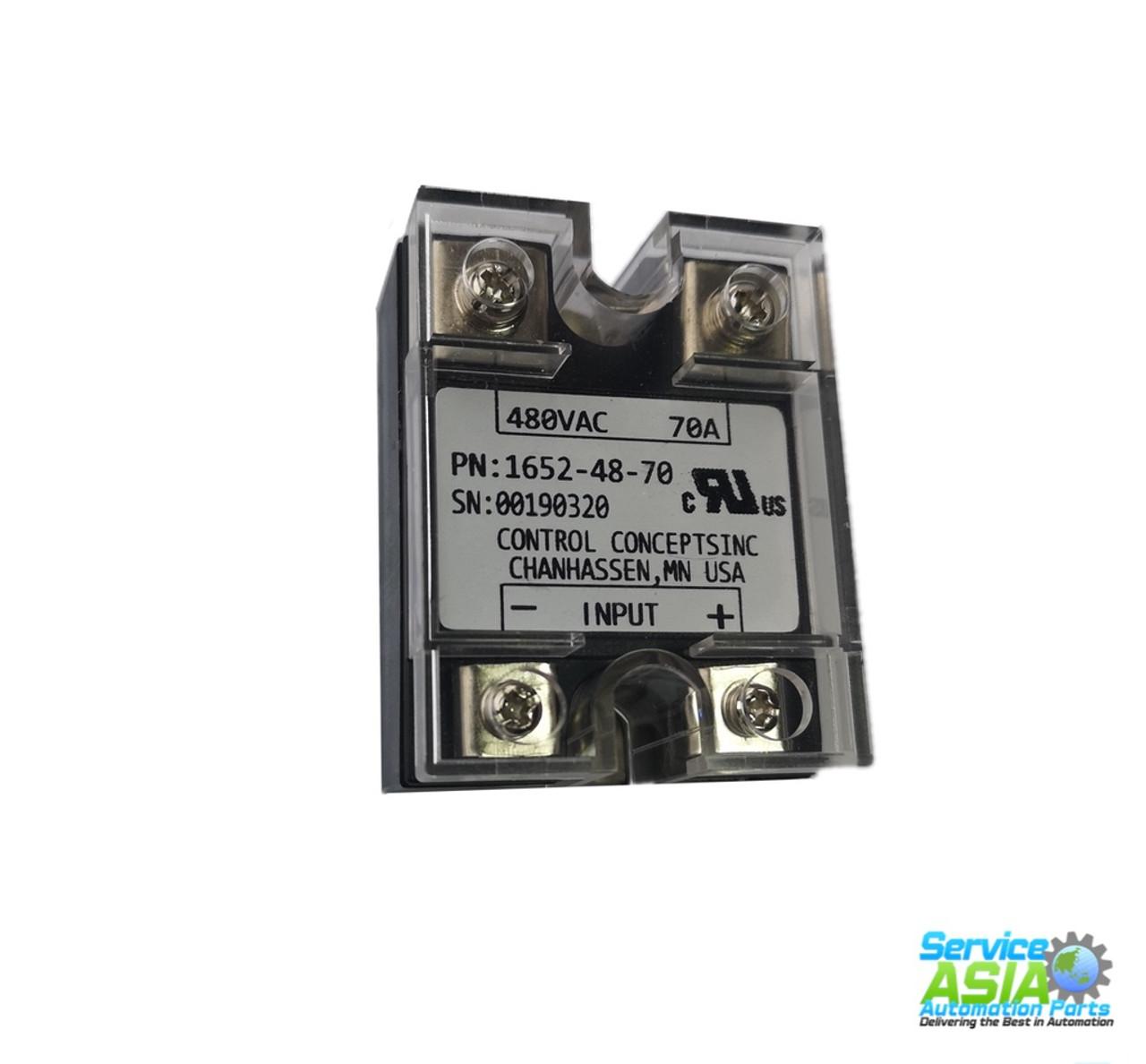 NEW CONTROL CONCEPTS 1652-48-70T3 RELAY MODULE 480VAC 70AMP