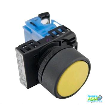 FUJI ELECTRIC AR22F0R-10Y 22MM PUSHBUTTON FLUSH, MOMENTARY