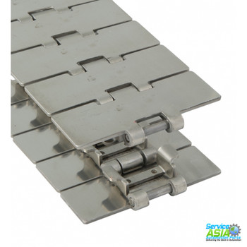 REXNORD S815TAB-K325 FLAT TABLE TOP CHAIN, CARBON STEEL. 763.93.31