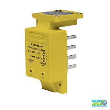 BANNER ENGINEERING  RPBB , 26100 - MAXI-BEAM: POWER BLOCK, RANGE: DEPENDS ON SENSOR, INPUT: 210-250 V AC, OUTPUT: SPST SOLID-STATE, WIRING CHAMBER