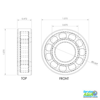 FAG NUP203E.TVP2 CYLINDRICAL ROLLER BEARING 17MM Bore Straight Bore Profile 40MM Outside Diameter 12MM Width dimensions