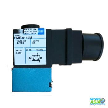 MAC VALVES PME-611-JM SOLENOID VALVE 24VDC 8.5W 25-160PSI