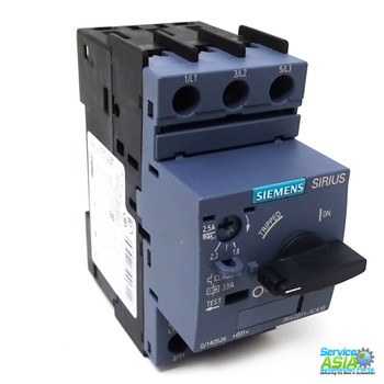 SIEMENS 3RV2011-1GA10 Circuit breaker size S00 for motor protection, CLASS 10 A-release 4.5...6.3 A N-release 82 A screw terminal Standard switching capacity