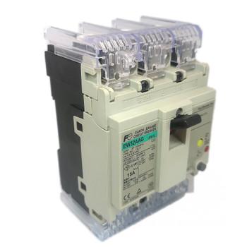 FUJI ELECTRIC EW32AAG-3P015 MOLDED CASE CIRCUIT BREAKER 15 AMP 230 VOLT AC 3 POLE HYDRAULIC MAGNETIC