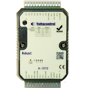 YOTTACONTROL A-1010 RS485 Modbus Multifunction IO Unit - 8AI, 4DO, 2AO