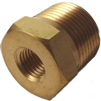 SWAGELOK B-12-RB-4 Brass Pipe Fitting, Reducing Bushing, 3/4 in. Male NPT x 1/4 in. Female NPT