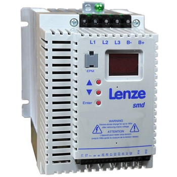 LENZE ESMD552L4TXA DRIVE INVERTER 14.2AMP 5.5KW 3PHASE 400/480VAC