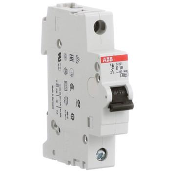 ABB S201-D10 Miniature Circuit Breaker, Din Mount
