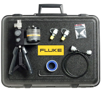 FLUKE 700HTPK HYDRAULIC TEST PUMP KIT, 0 TO 10000 PSI/700 BAR. Generates pressure up to 10,000 psi, 690 BAR. Includes the 700HTP-2 hydraulic hand pump, test hoses and adapters, and protective hard case