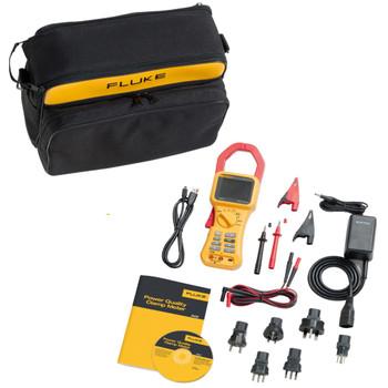 FLUKE 345 Power Quality Clamp Meter, 2000A dc, Max Current 1.4kA ac CAT IV 600 V (2584181) pack