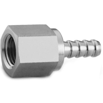 SWAGELOK SS-2-HC-7-2 Stainless Steel Hose Connector, 1/8 in. Female NPT, 1/8 in. Hose ID
