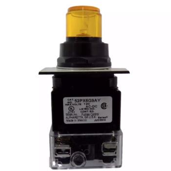 SIEMENS OIL-TIGHT PILOT LIGHT PUSHBUTTON AMBER LED 120VAC 1NO/1NC