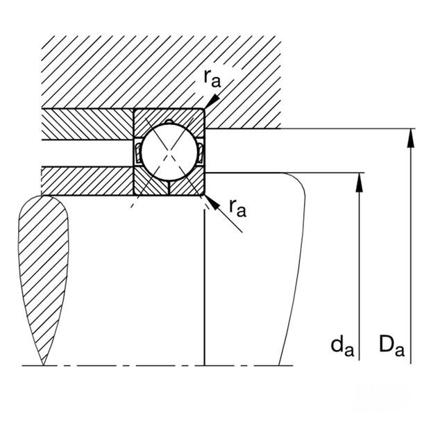 FAG QJ230-N2-MPA Four point contact bearing 150x270x45mm dimensions